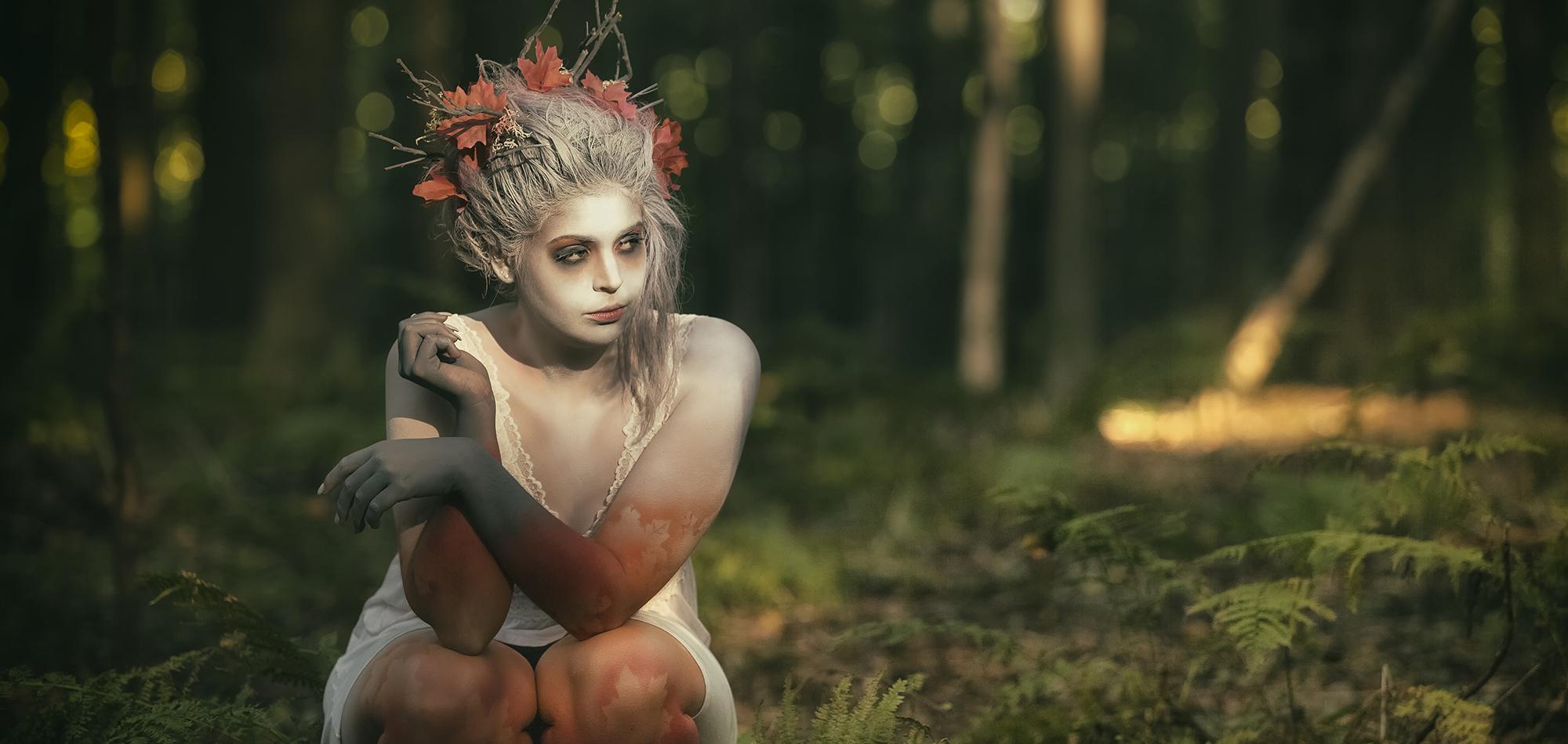 Portrait -  MakeUp Raven Tatiana - Model Marie Heintzen -